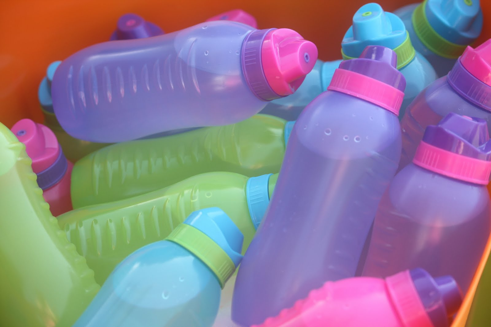 Water bottles for the kids instead of softdrink