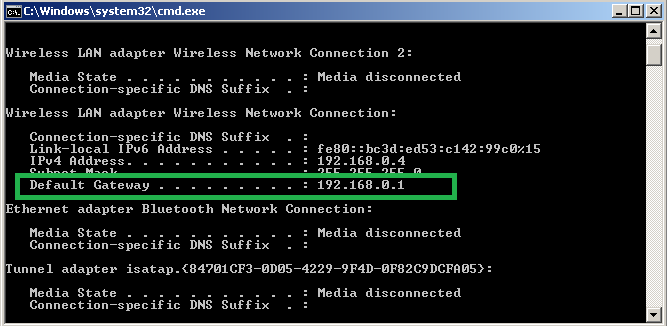 how to find your gateway ip
