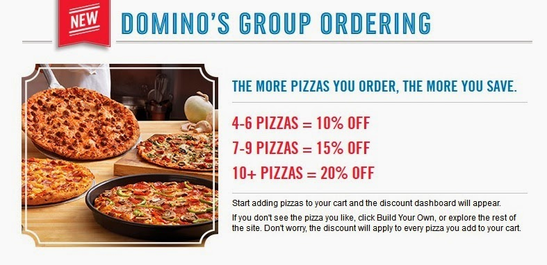Domino's group ordering discounts