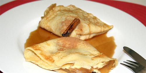 receta Crepes de manzanas