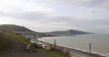 Setting Clocks Ahead When Its Still >> Pam's coastal walk for Velindre: Walk 19 Aberystwyth to Tre'r Ddol 30th March, 2014