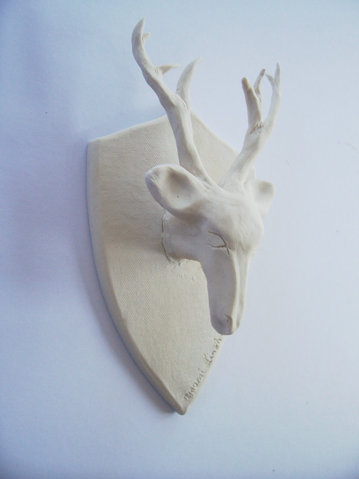 little brick house clayworks porcelain deer head