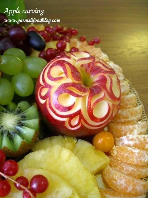 how to carve apple