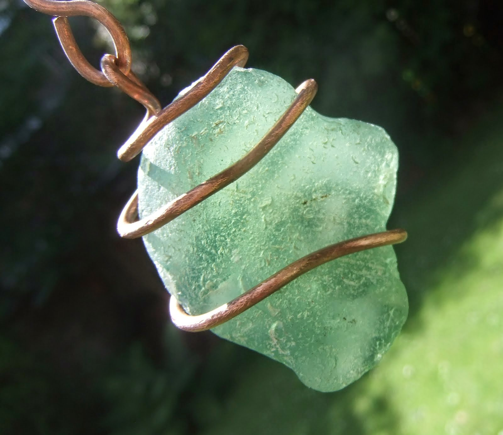Scottish Sea Glass catching the sun...