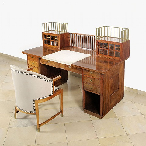 Josef Hoffmann Desk and Chair 1905-1906