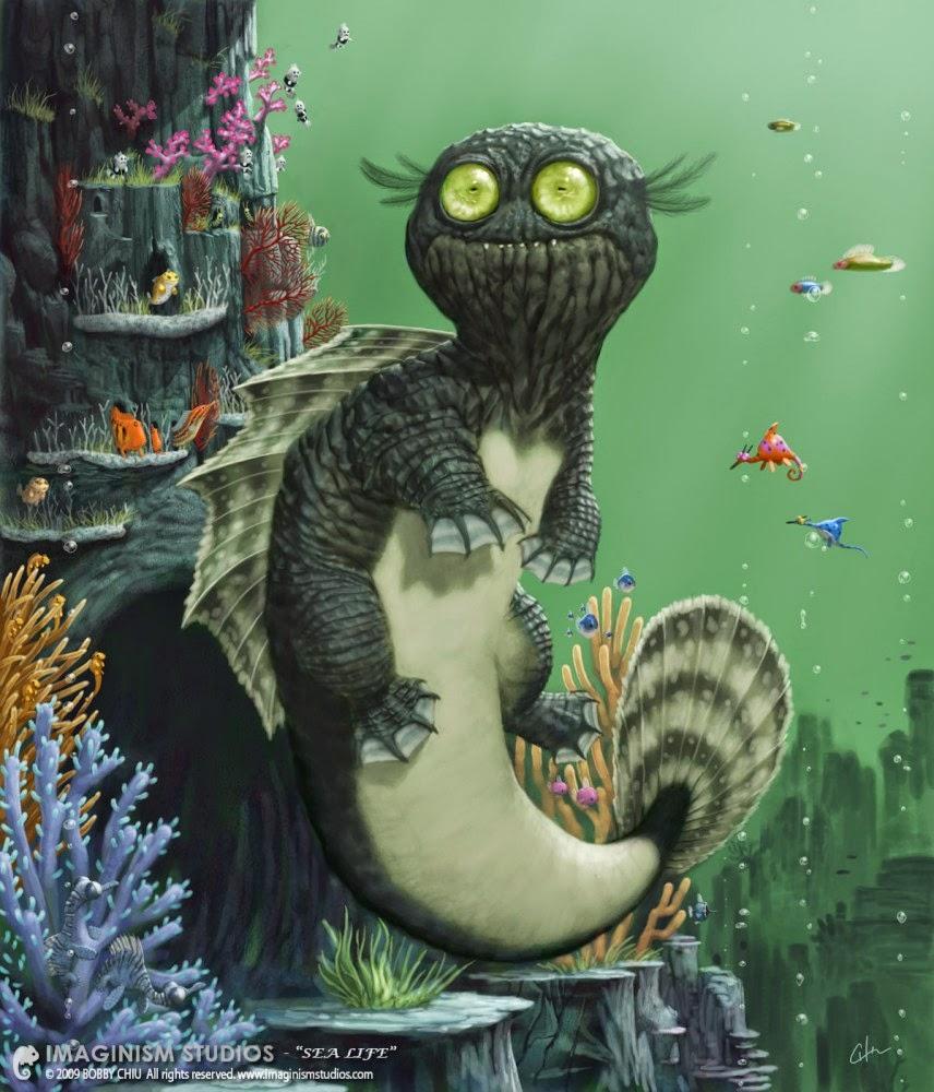 illustration de Bobby Chiu représentant un monstre marin
