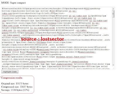 Kompres CSS Untuk Mempercepat Loading Blog