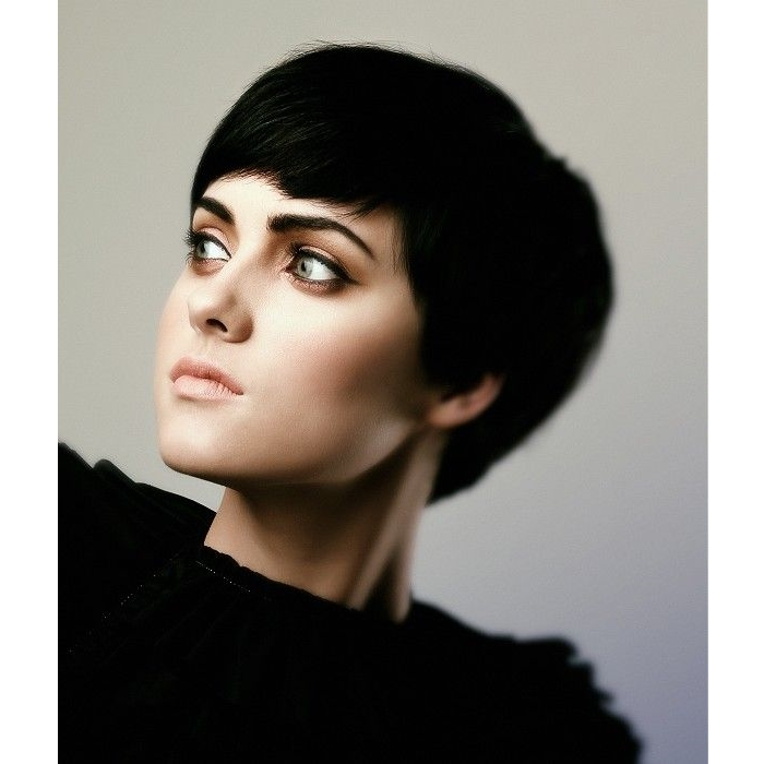 pixie haircut, black hair, hairstyle
