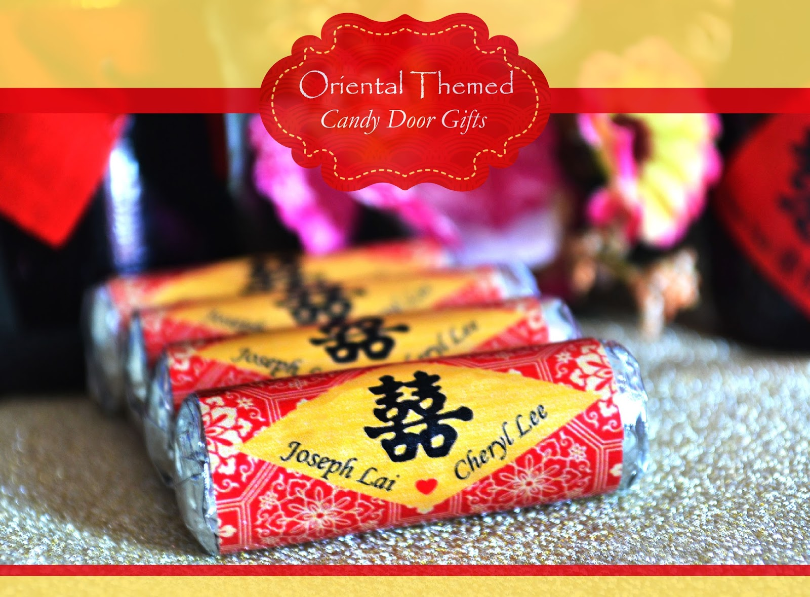 There candy door gifts represent sweetness of the newlyweds and the wrapper is designed according to an Oriental Themed wedding reception. & Wedding Card Malaysia | Crafty Farms Handmade : Oriental Themed ... pezcame.com