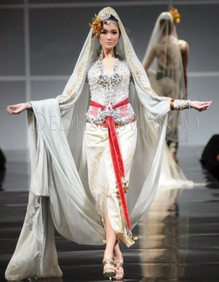 Kombinasi kebaya muslim modern yang elegan