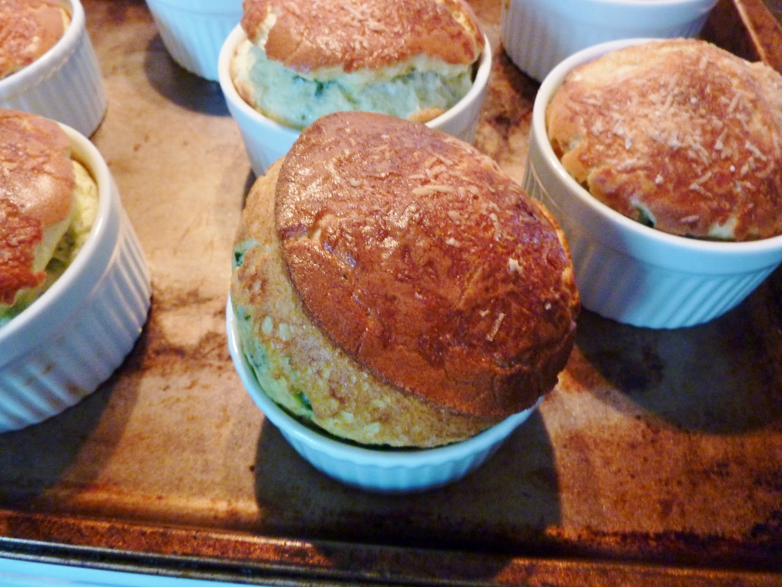 cooking for betty: spinach and blue cheese souffle