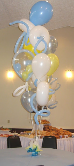 Balloon Bouquets For Boy Baby Shower2