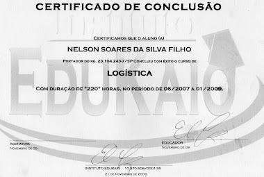 CERTIFICADO DO CURSO TÉCNICO DE LOGISTICA OPERACIONAL