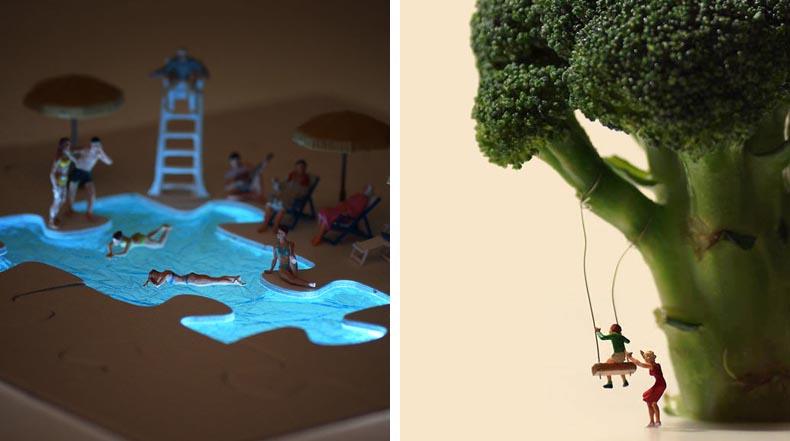 Artista Tanaka Tatsuya crea peculiares dioramas de artículos para el hogar cada día del año