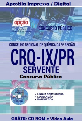 Apostila CRQ9 PR - Conselho Regional de Química PR (CRQ-IX)