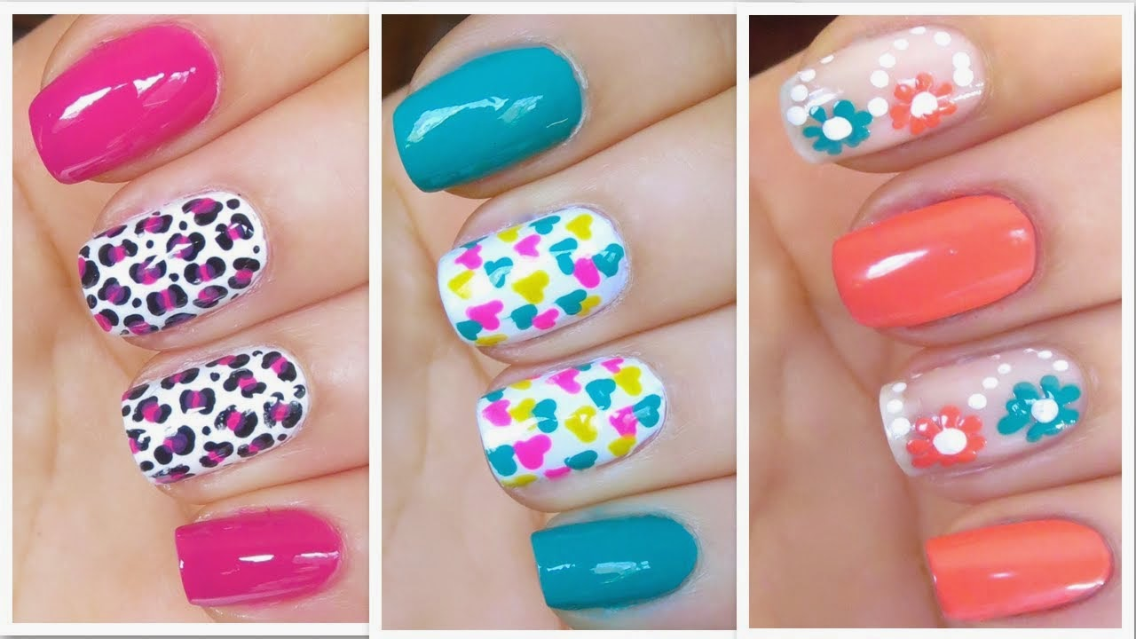 Summer Nail Design | 3 easy and cute nail art designs spring summer 2014