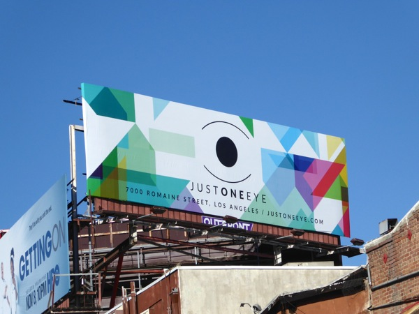 Just One Eye boutique billboard