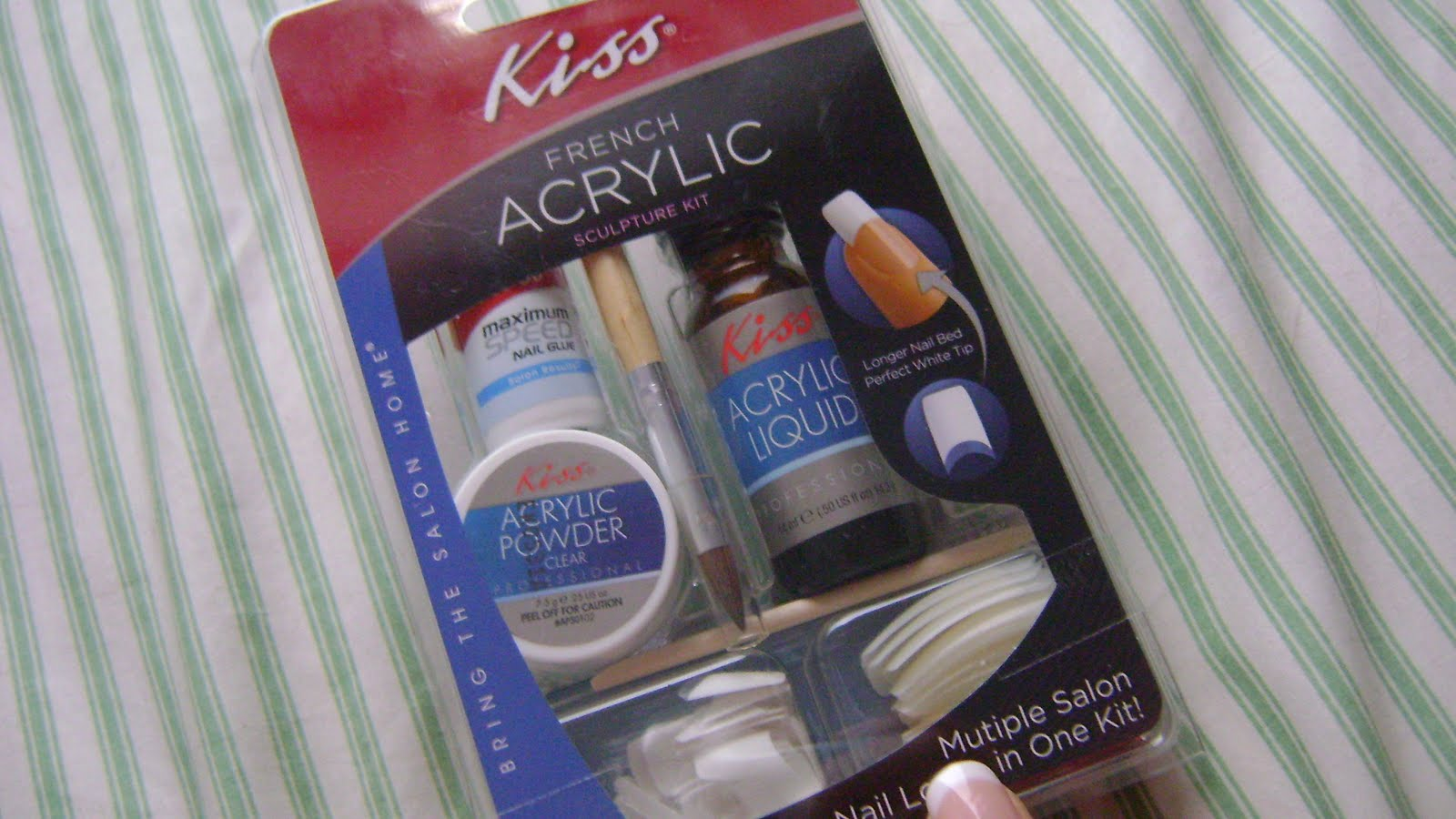 makeup lust: Kiss Acrylic French Nails