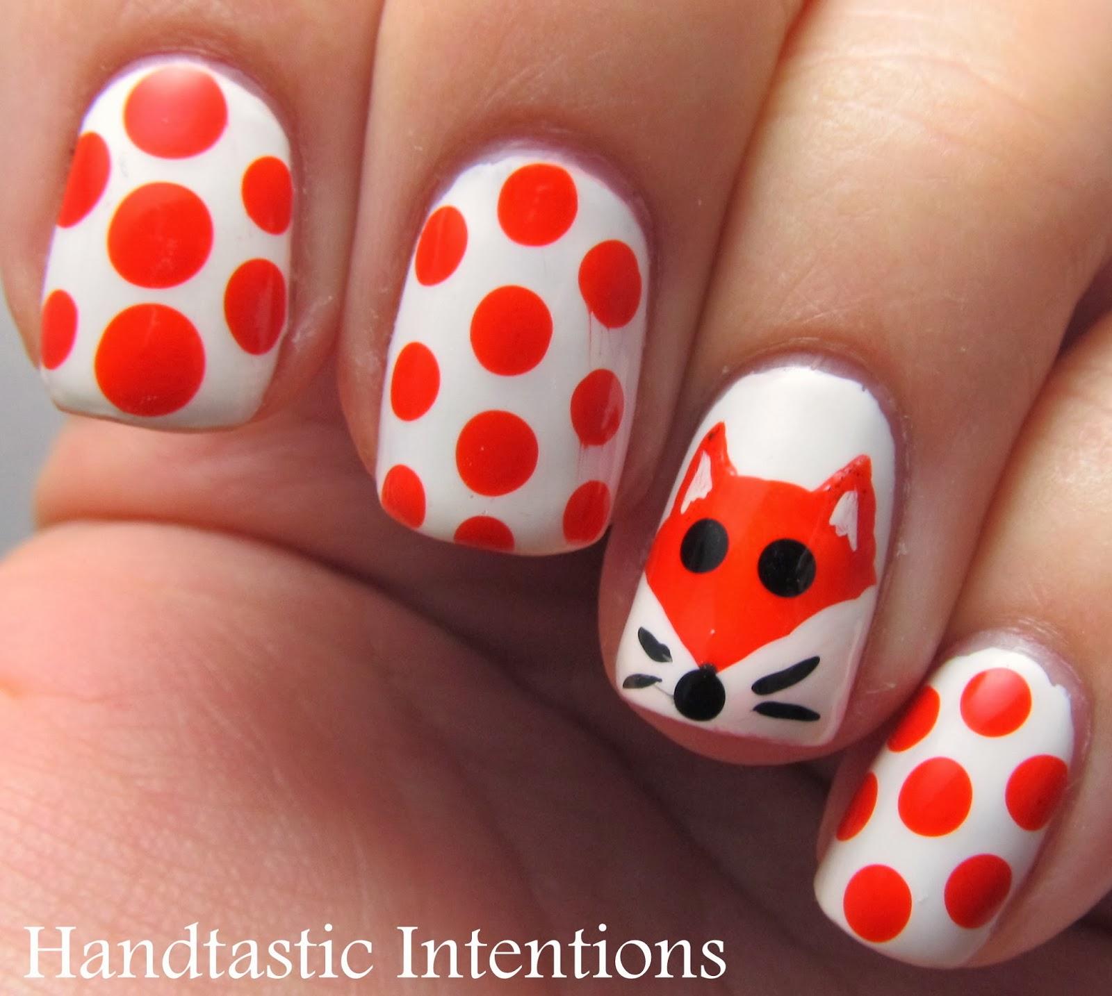 Handtastic Intentions: Nail Art: Fox for Nail Art November