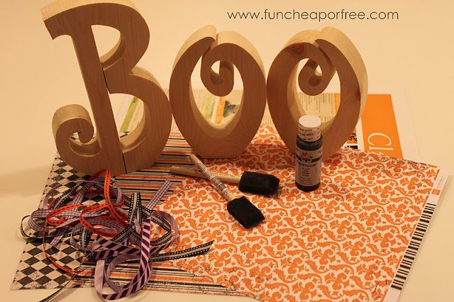 Boo crafting supplies, from Fun Cheap or Free