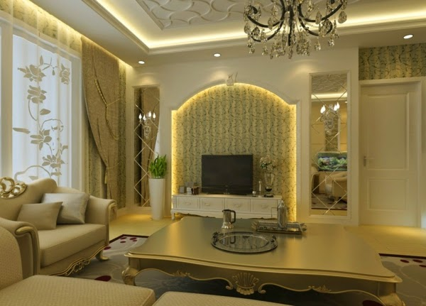 Tv room lighting ideas best info online for Living room wall lights
