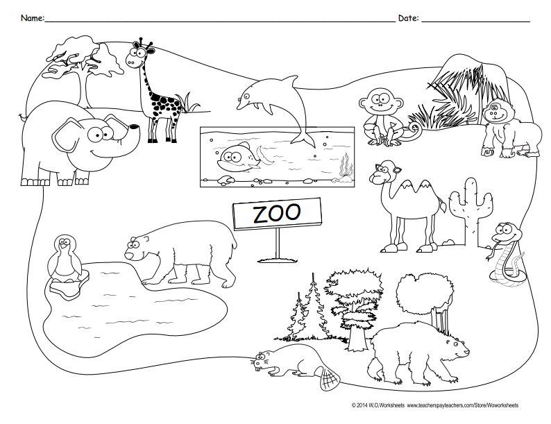 Animal Habitats Coloring Pages Tiger Coloring Page Lions Gorilla – Animal Habitat Worksheets