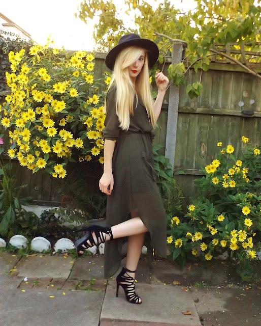 Khaki Maxi Shirt Dress