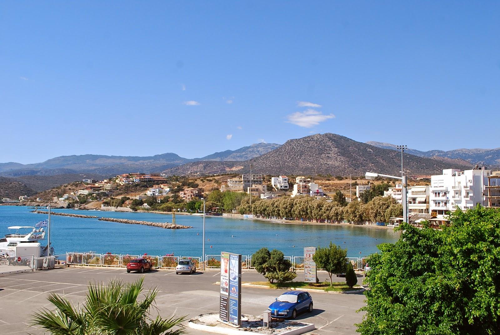 Вид на пляж Аммос с порта. Ammos beach, Crete.