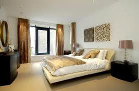 modern bedroom window