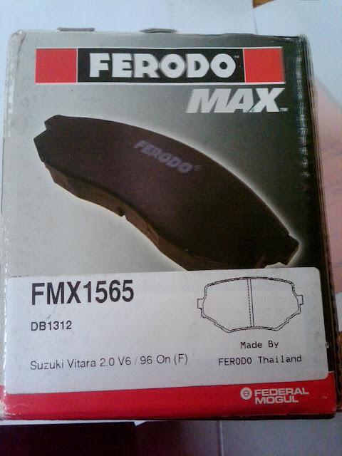 Kampas Rem Ferodo utk Suzuki Grand Escudo '02-05 (FMX1565/ DB1312)