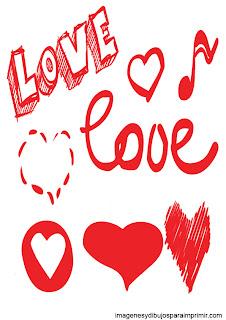 love para imprimir