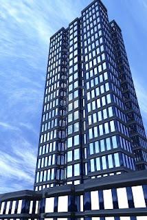 فكر خارج الصندوق 5194086-front-view-of-a-3d-modern-building-vertical