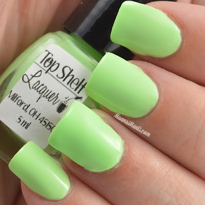 Top Shelf Lacquer Grasshopper swatches