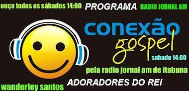 ouça o programa conexão gospel todos os sabados das 2:00 as 3:00 da tarde pela radio jornal AM