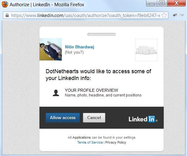 Fundamental of Dot Net: LinkedIn login in our website using JavaScript ...