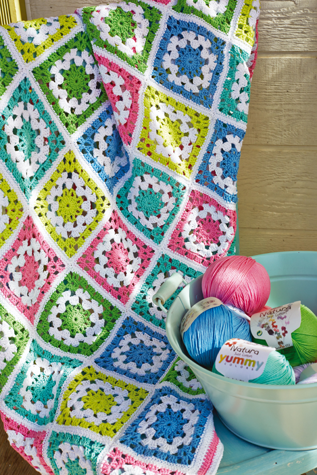 O blog da dmc modelo de oferta manta granny square for 100 piastrelle all uncinetto