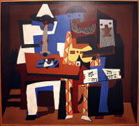 Three Musicians by Pablo Picasso art