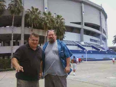 Tim & Tom at the Rays Baseball game
