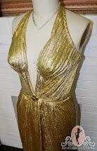 Marilyn Monroe Gold Lame Dress