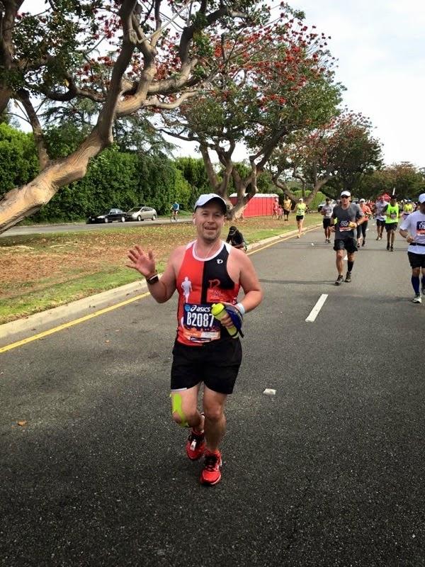 2015 LA Marathon charity runner Mile 23