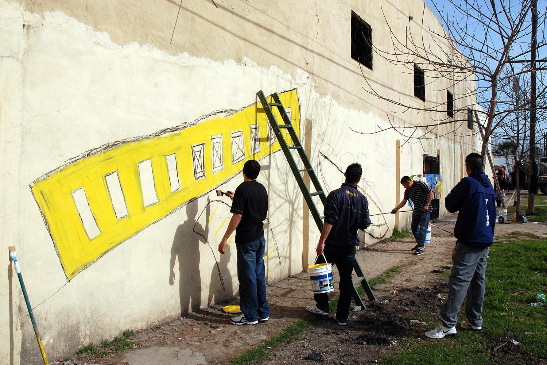 Tigre ahora murales en tigre una construcci n comunitaria for Club joven mural