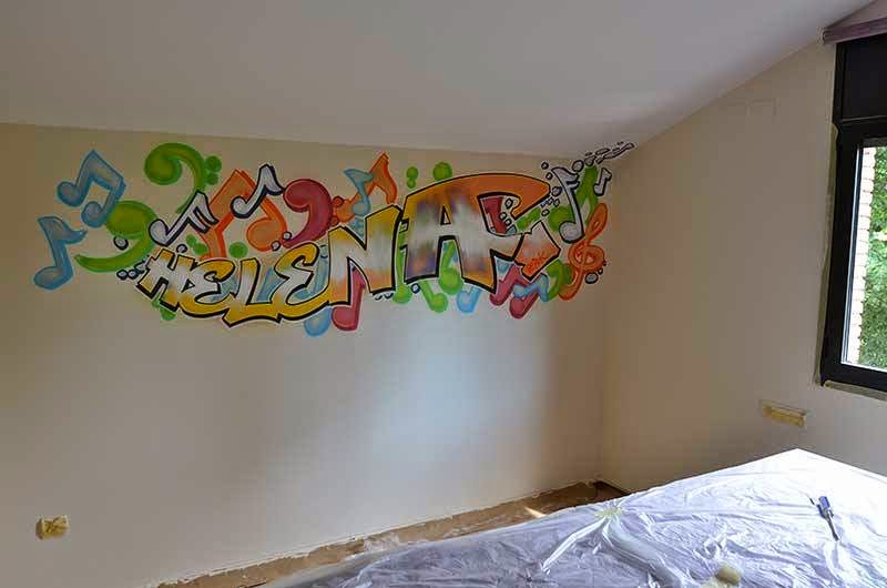 Berok graffiti mural profesional en barcelona consultas for Murales de pared para dormitorios
