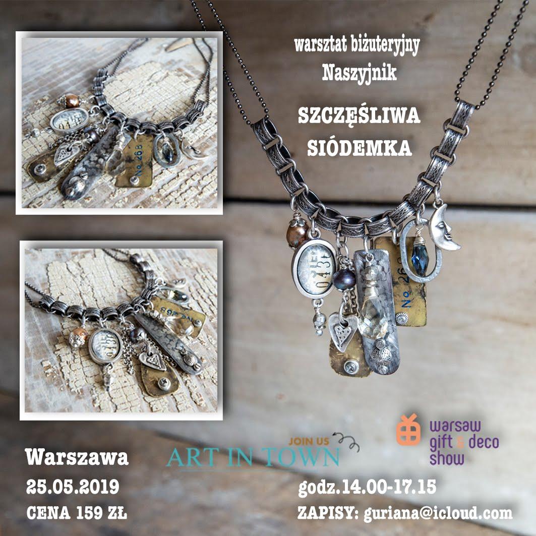 Warszawa Art in Town- Naszyjnik Szczęśliwa siódemka