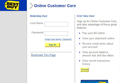BestBuy Credit Card login