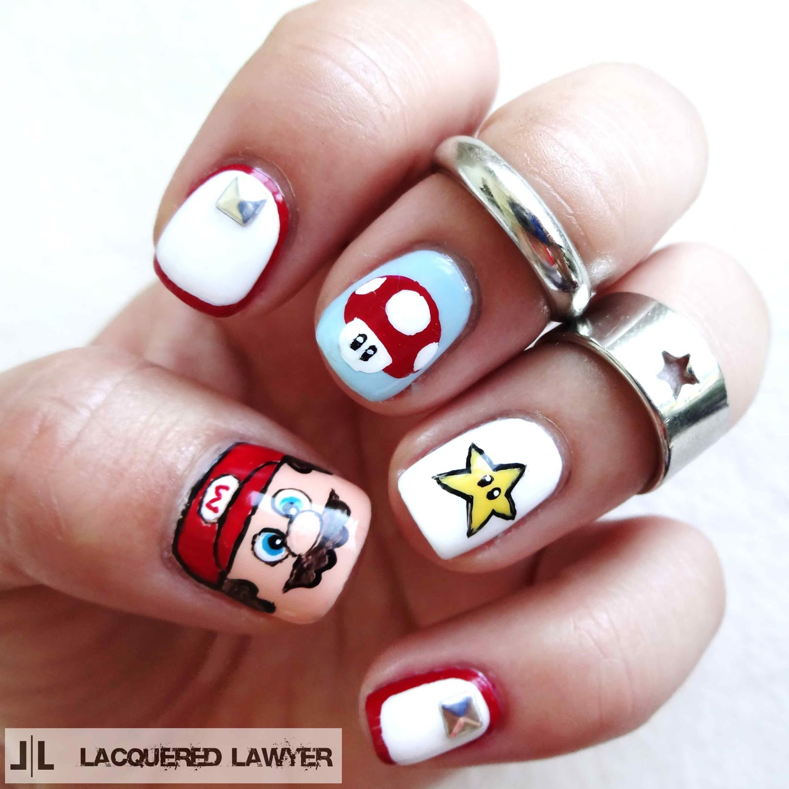 Super Mario Brothers Nails