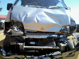 crashed bakkie
