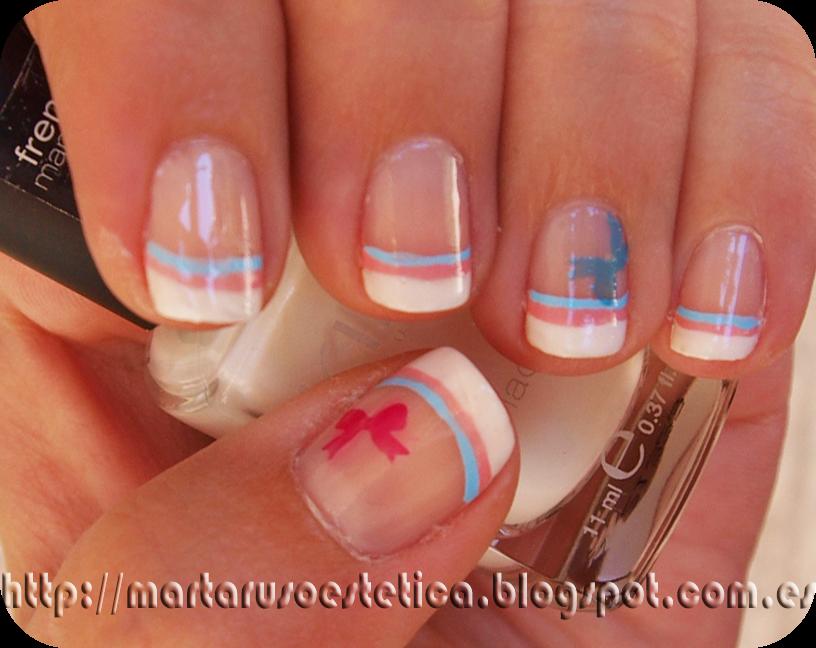pero esta vez quera darle un toque diferente ya que descubr un blog de una chica que hace unas manicuras francesas preciosas yeli nails