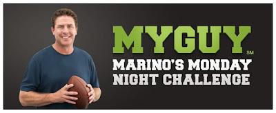 Viggle, MyGuy, Dan Marino, Marino's Monday Night Challenge