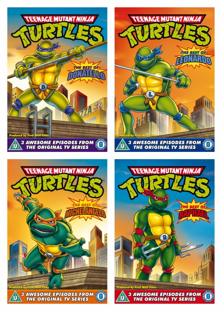Teenage Mutant Ninja Turtles Best of DVD covers