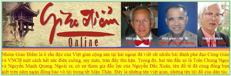 Giao Điểm - Ổ rắn độc truyển thông của Việt gian Cộng sản tại Hải Ngoại